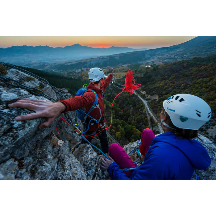 Gewatteerde damesjas voor alpinisme donkerindigo