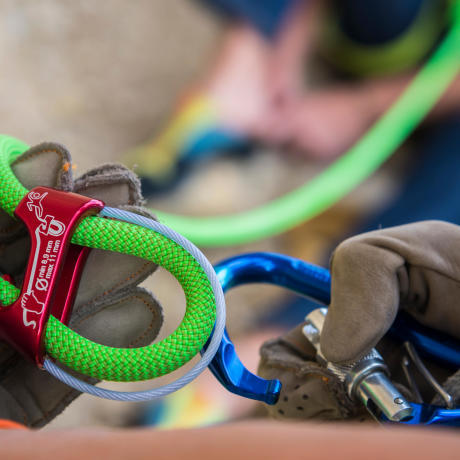 Sicherungsgeräte für das Klettern