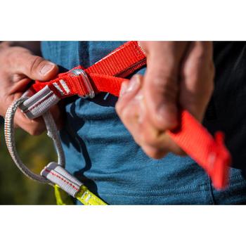 成人款攀岩及登山用安全吊帶EDGE–橘黃配色