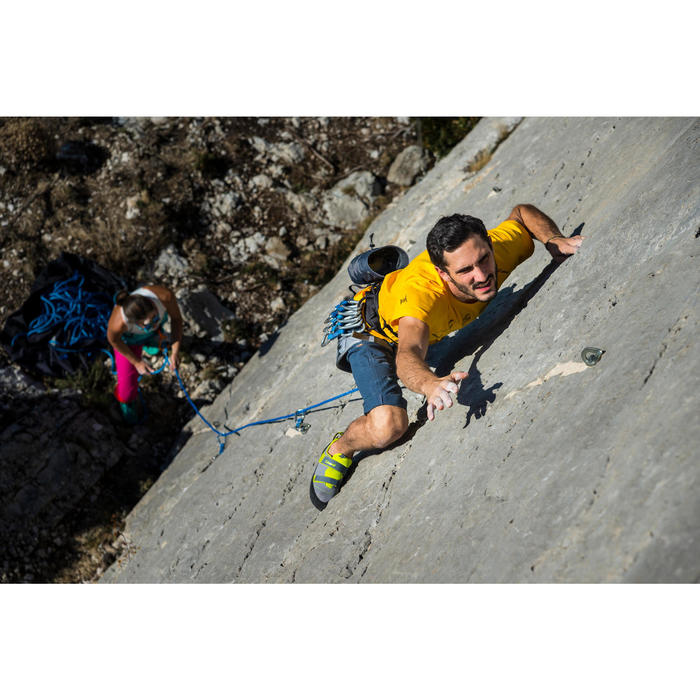 MEN'S 3/4 STRETCH CLIMBING TROUSERS ORGANIC COTTON - COLOUR GREY