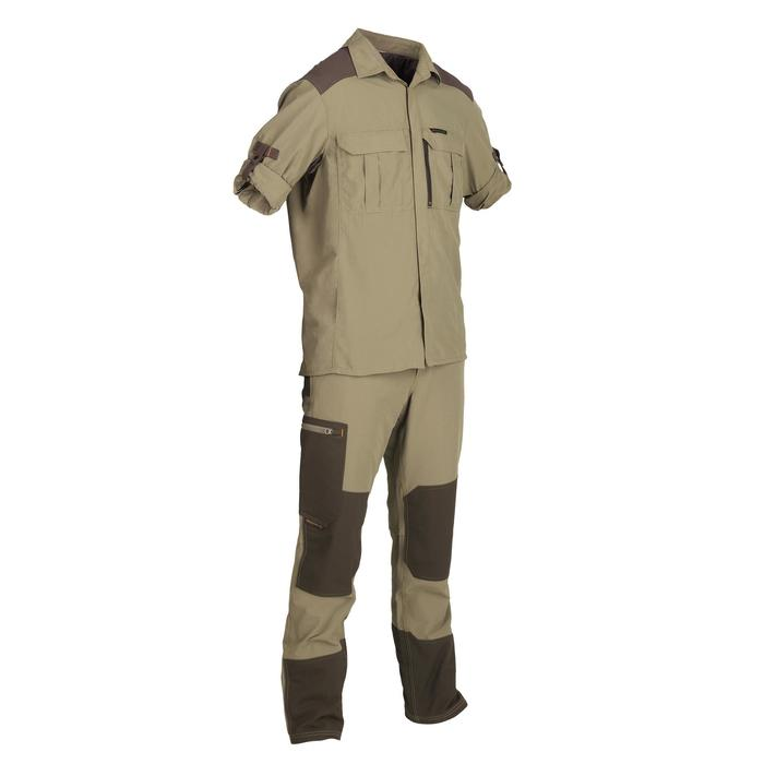 Chemise chasse manches longues kaki SG900MLH homme - 1342608