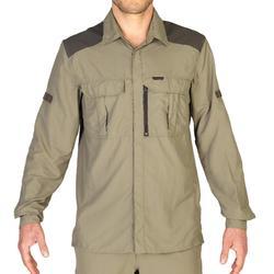 Jachthemd voor heren met lange mouwen kaki SG900LMH