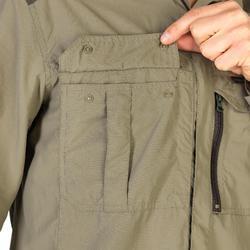 Camisa Caza Solognac SG 900 Manga Larga Ligera Transpirable Caqui