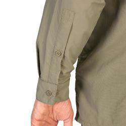 Jagd-Langarmhemd leicht atmungsaktiv 900 khaki