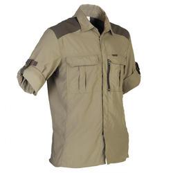 Camisa Leve e Respirável de Caça Manga Comprida 520 Caqui