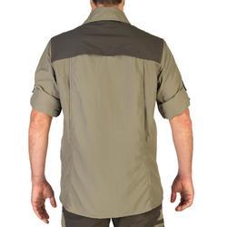 Licht en ademend overhemd met lange mouwen voor de jacht 520 kaki