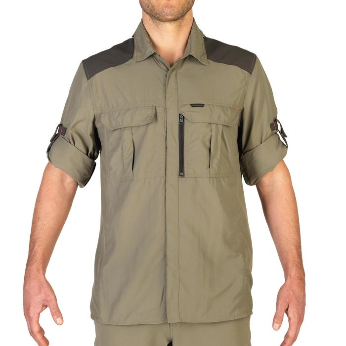 Chemise chasse manches longues kaki SG900MLH homme - 1342620