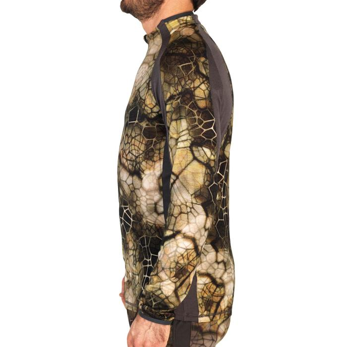 T-shirt Silencieux Respirant Laine Merinos 900 camouflage Furtiv