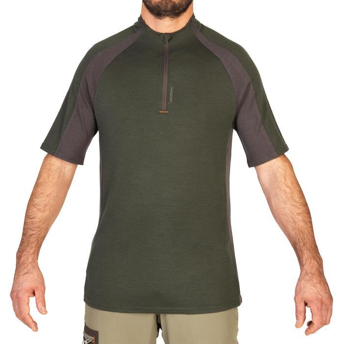 Jagd-T-Shirt SG900 Wolle grün