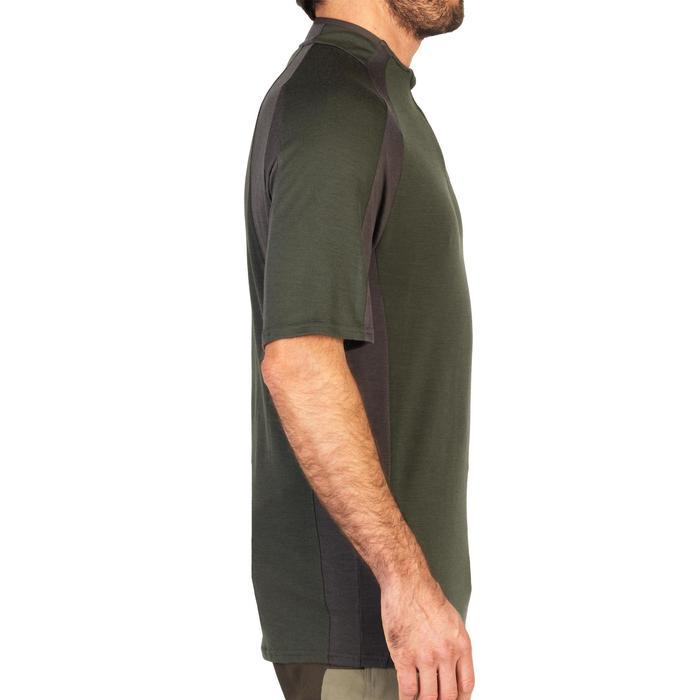 Camiseta SG900 de lana merina manga corta verde