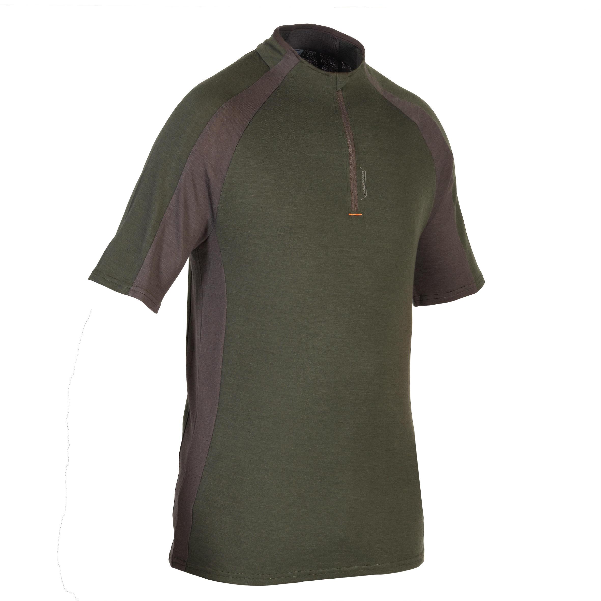 Solognac Tee shirt SG900 wol korte mouwen groen