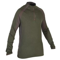Camiseta de caza de manga larga lana merino 900 verde