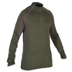 Merino shirt met lange mouwen voor de jacht 900 groen