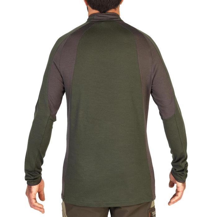 T-shirt manches longues laine mérinos chasse 900 vert