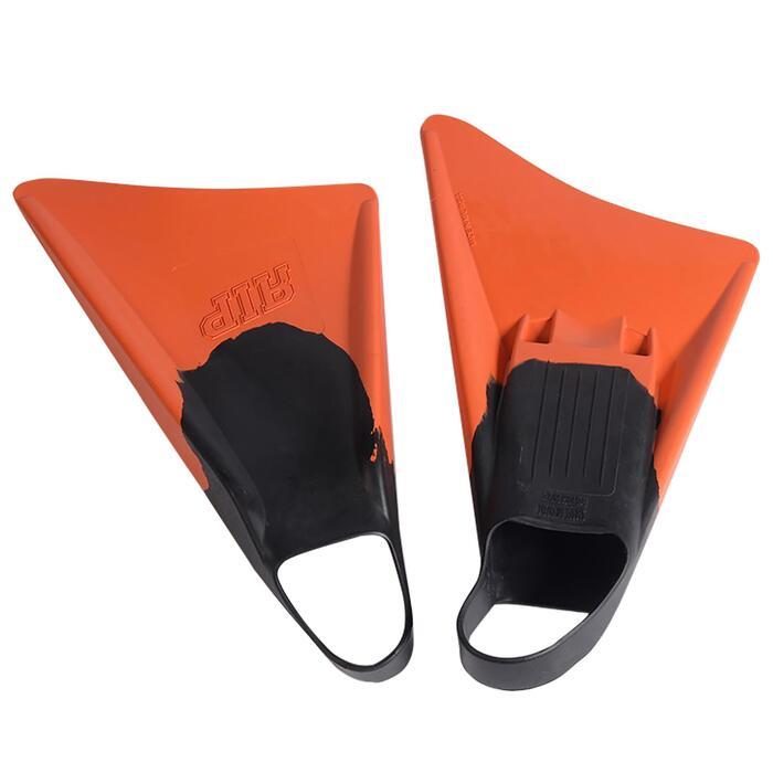 Aletas Bodyboard RIP Asimétricas Adulto Naranjas Negras