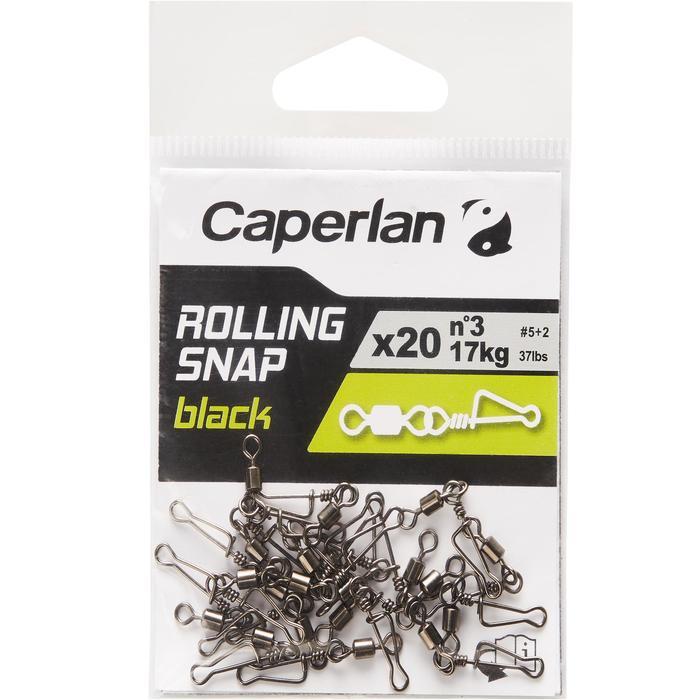 Wartel met speldconnector Rolling snap black