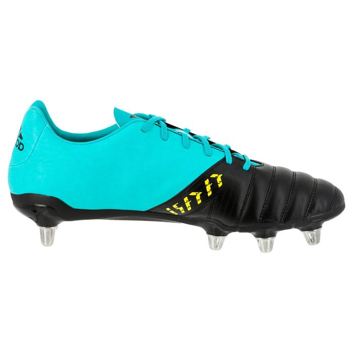 Chaussures de rugby adulte 8 crampons Adidas Kakari SG Noir/Vert
