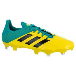 Botas de Rugby Adidas Malice taco mixto adulto amarillo y verde