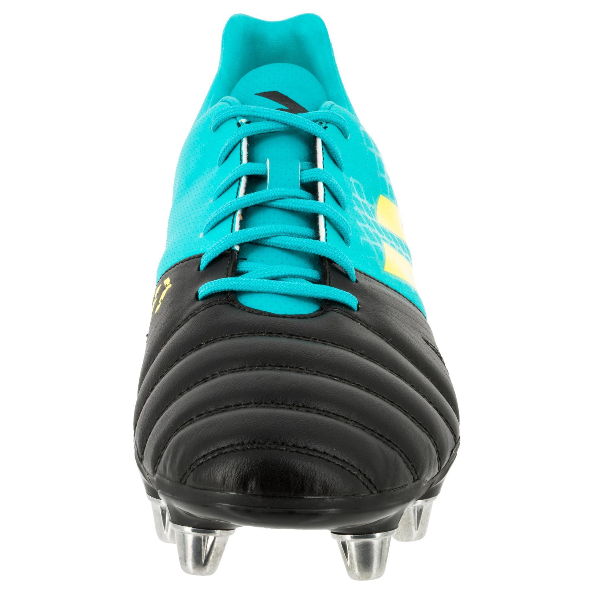 brand new a8d5e a10f6 Adidas Crampons Noir Kakari Adulte Rugby 8 Chaussures Sg De