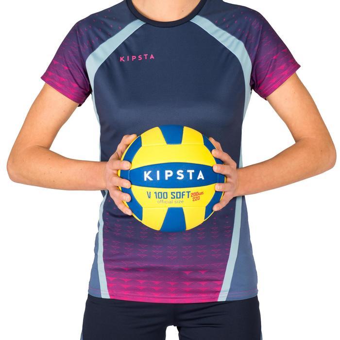 Ballon de volley-ball Wizzy 260-280g blanc et bleu à partir de 15 ans - 1343247