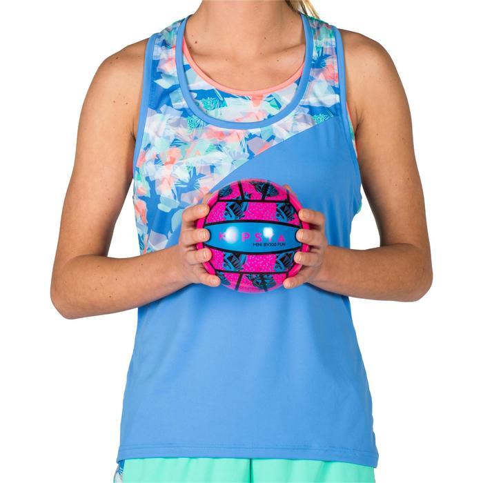 Mini ballon de beach-volley BV100 rose et bleu
