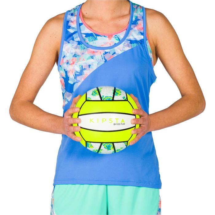 Ballon de beach-volley BV100 blanc et jaune