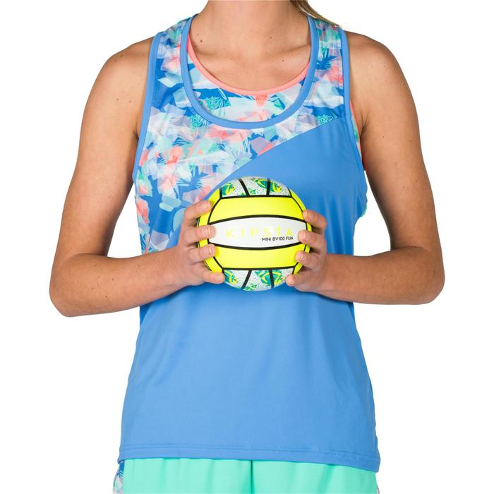 Mini ballon de beach-volley BV100 blanc et jaune