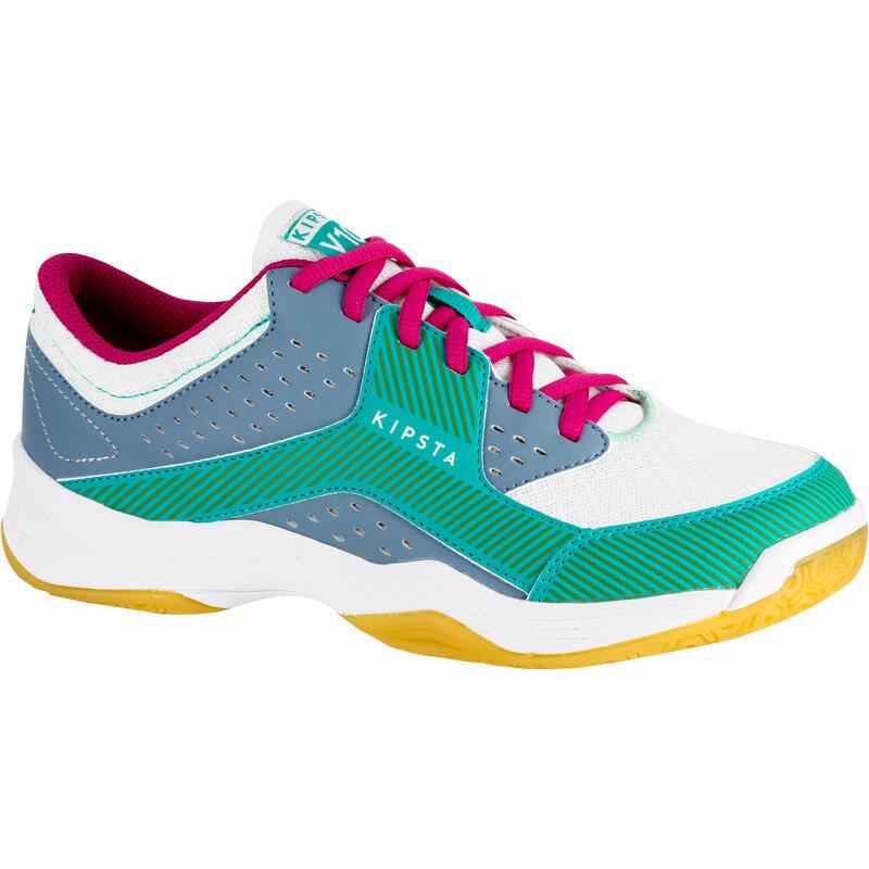 Buty damskie do siatkówki V100 niebiesko-zielone