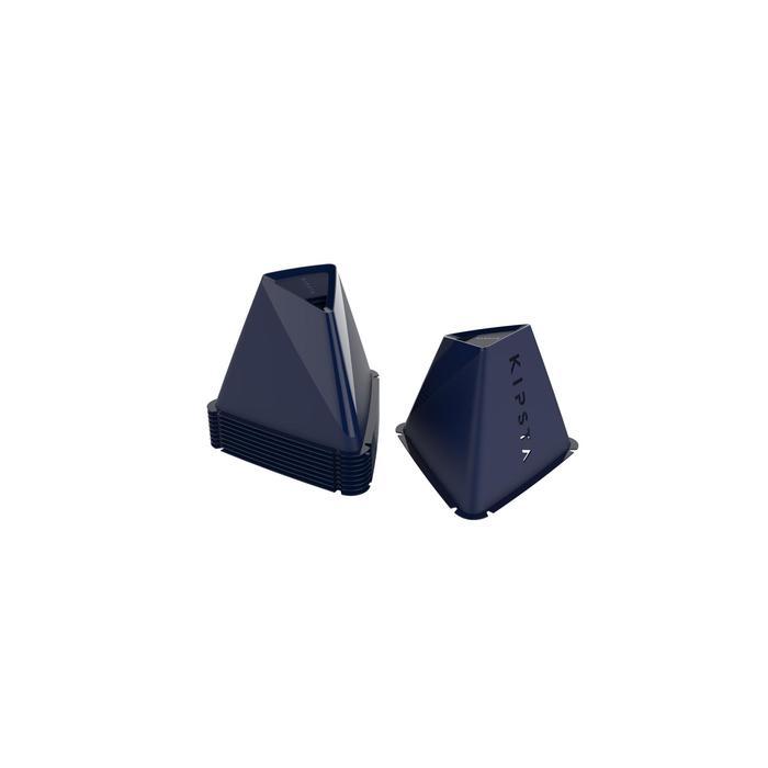 Set van 6 kegels Essential 15 cm marineblauw