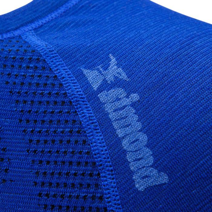 Funktionsshirt langarm Seamless 40% Wolle Damen blau