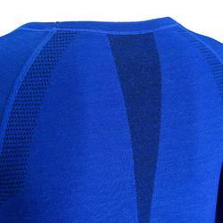 Camiseta de manga larga SEAMLESS lana 40% MUJER azul