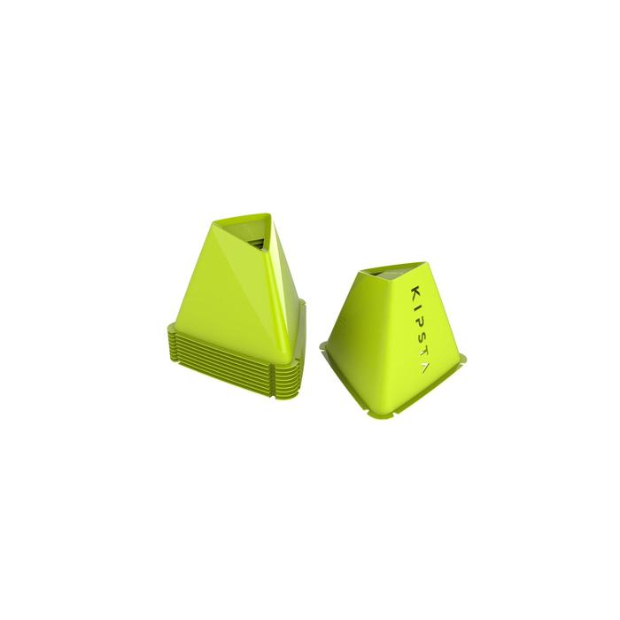 Pionnen Essential, set van 6, 15 cm hoog geel