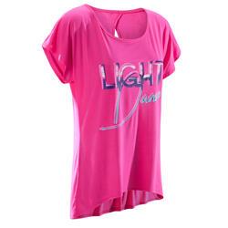 Dans T-shirt met korte mouwen voor dames fuchsia