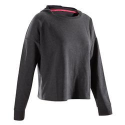 Tanz-Sweatshirt mit Kapuze Damen grau