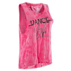女款舞蹈背心 - 紫紅色