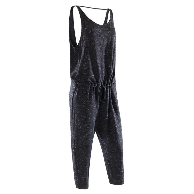 Women's Dance Warm-Up Jumpsuit - Mottled Anthracite Grey