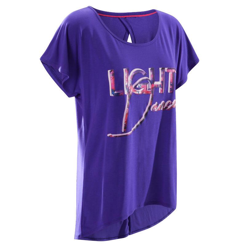 Women's Short-Sleeved Dance T-Shirt - Purple