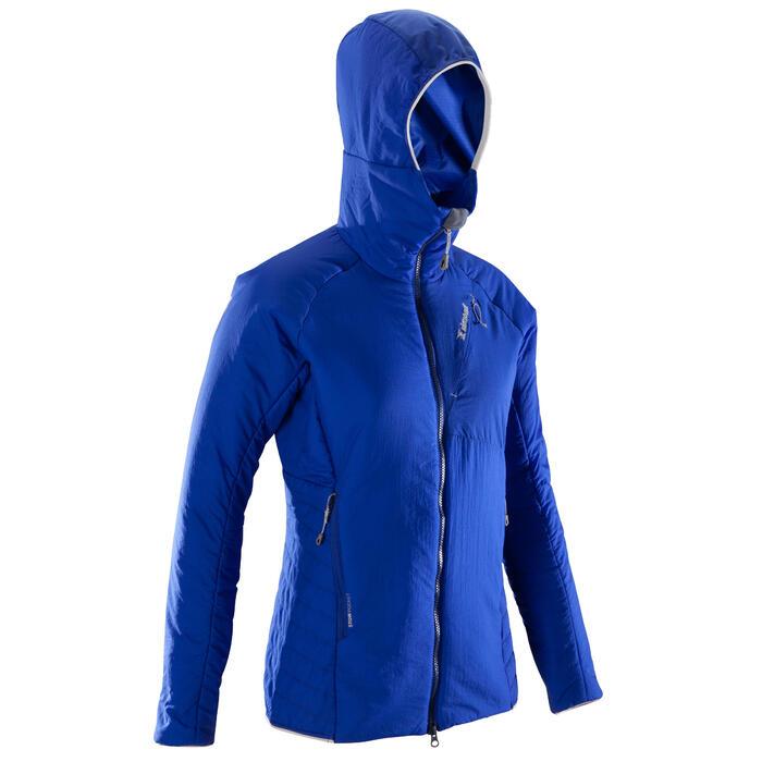 Gewatteerde damesjas voor alpinisme Alpinism blauw