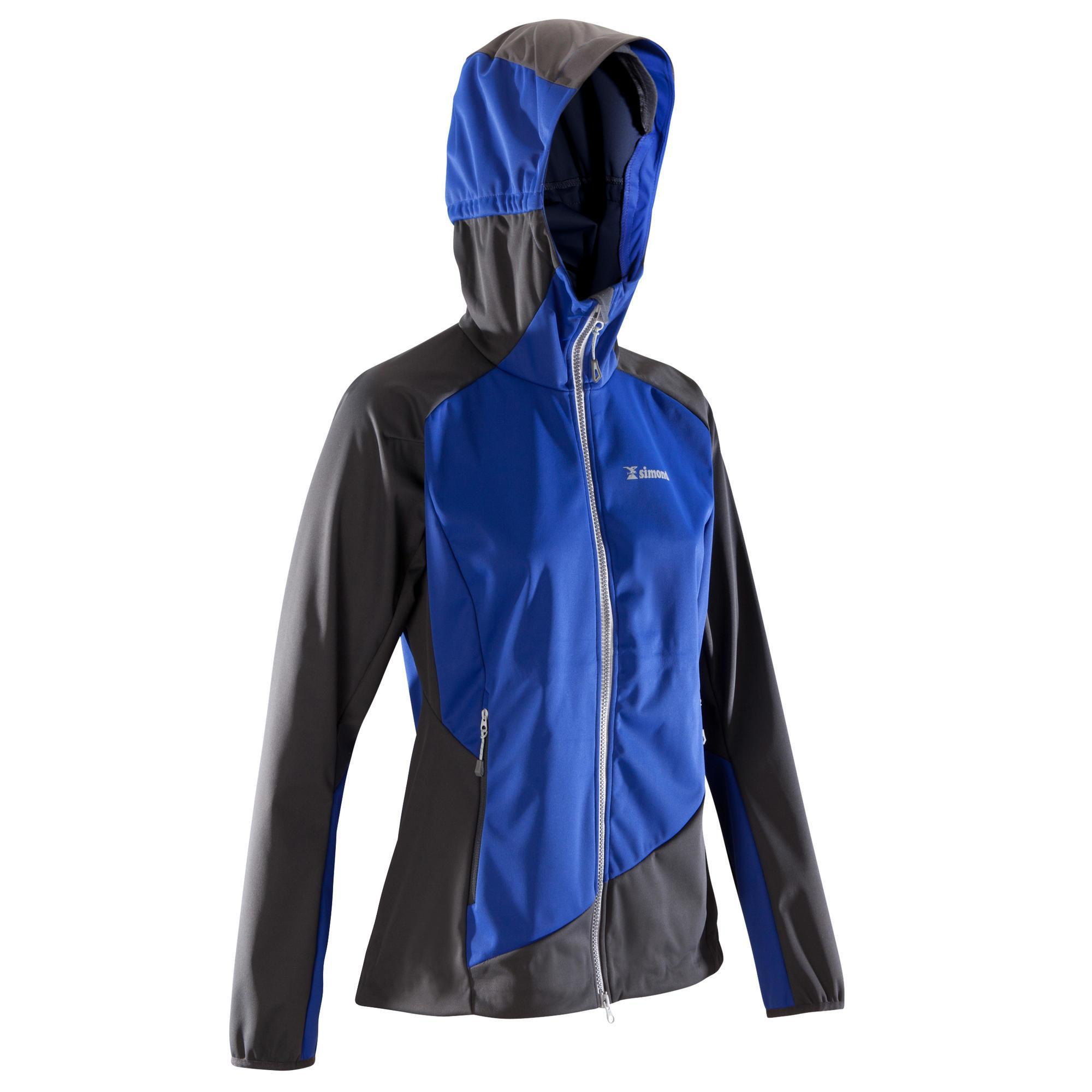 Simond Dames softshell jas Light voor alpinisme donkerindigo en grijs