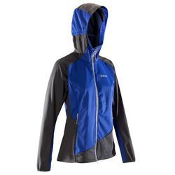 Dames softshell jas Light voor alpinisme donkerindigo en grijs