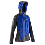Ženska lahka gorniška jakna iz softshella – temno modro-siva
