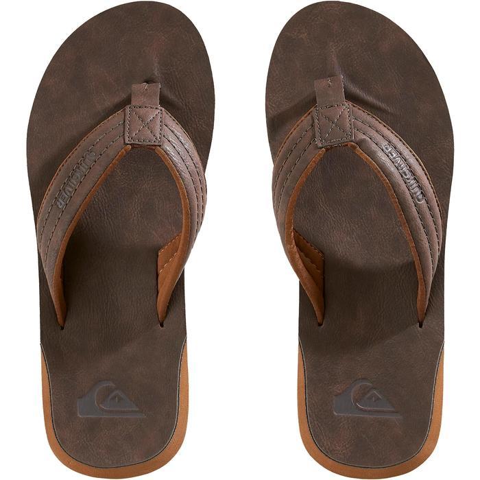 Heren slippers Quiksilver Carver bruin