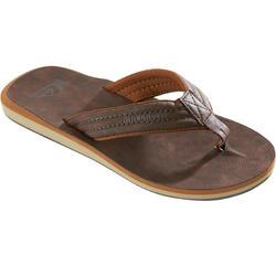 Heren slippers Quiksilver Carver bruin Leer