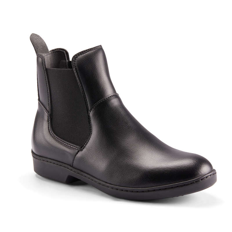 ADULT JODPHUR/PADDOCK BOOTS AND HC Horse Riding - 500 Jodhpur Boots - Black FOUGANZA - Horse Riding