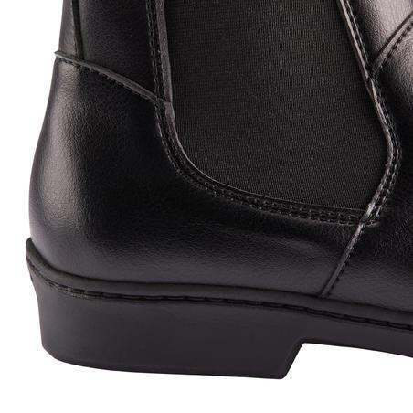 160 Warm Kids' Horse Riding Jodhpur Boots - Black