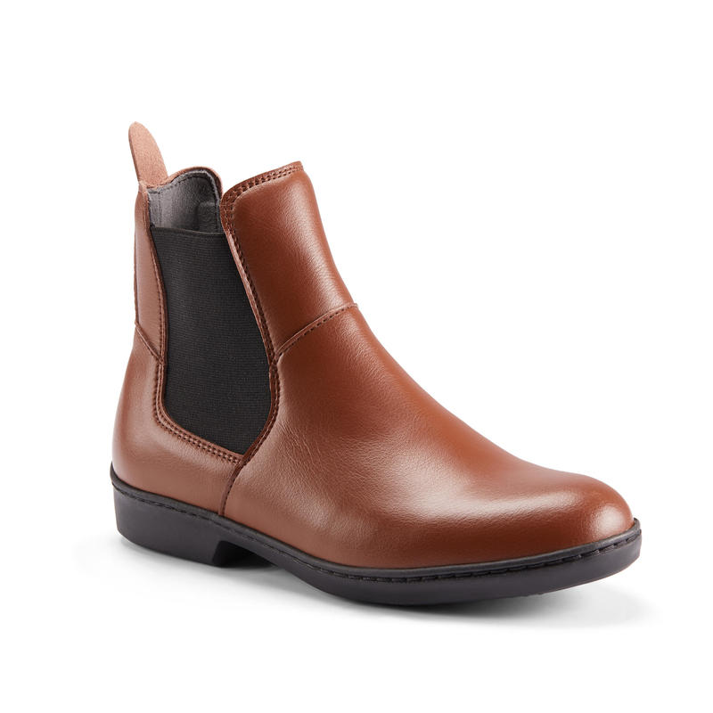 500 Adult Horse Riding Jodhpur Boots - Brown