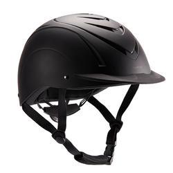 Adult and junior horse riding 500 Helmet - Black