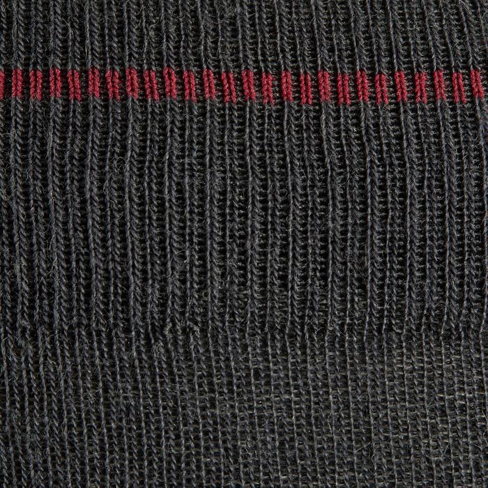 Chaussettes chaudes équitation adulte 500 WARM gris/bordeaux