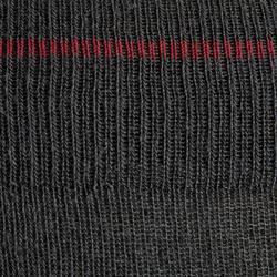 Winter-Reitsocken 500 Warm Erwachsene grau/ bordeaux