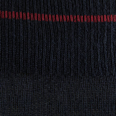 Chaussettes chaudes équitation adulte 500 WARM marine x1